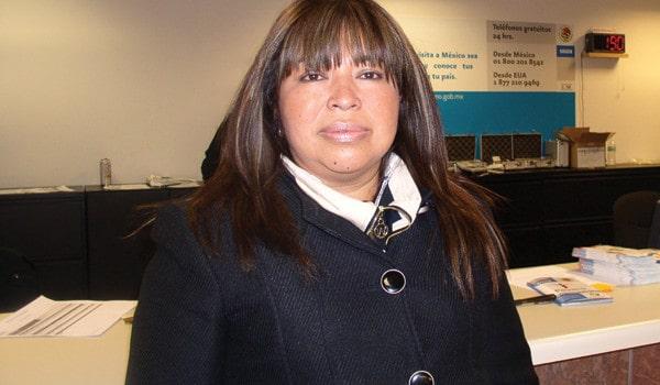 Sofía Alderete Flores, supervisora de aduanas de la Administración Federal de Aduanas de México