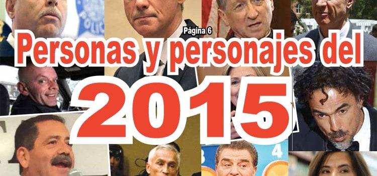 Personas y personajes del 2015